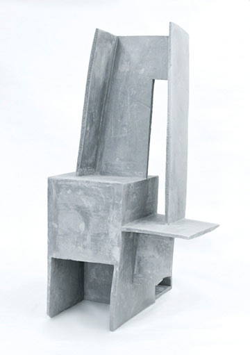 Reuben Lorch-Miller,  Mother Father Ship , 2010, unfired clay, 23″ x 12″ x 12″
