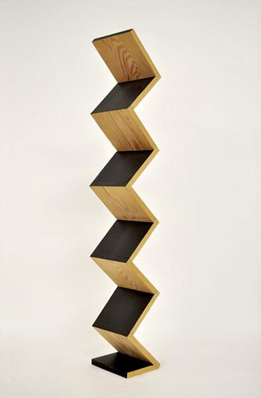 Reuben Lorch-Miller,  Zig Zag For Dummies , 2009, wood, paint, 35″ x 6″ x 4″