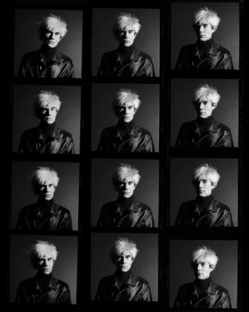 Andy Warhol Without Glasses Contact Sheet,  Los Angeles, 1986