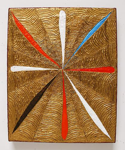 Dani Tull  Evolver 3, 2010  encaustic wax, acrylic and oil on stretched burlap  20 x 16 inches