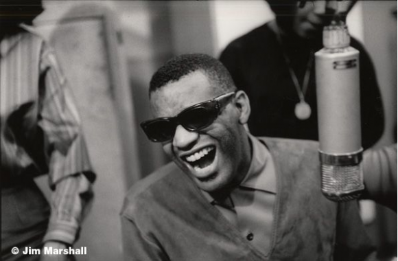 Ray Charles at a Recording Session for Atlantic Records, New York City, 1962