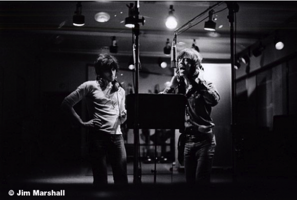Keith Richards and Mick Jagger Recording, Los Angeles, 1972