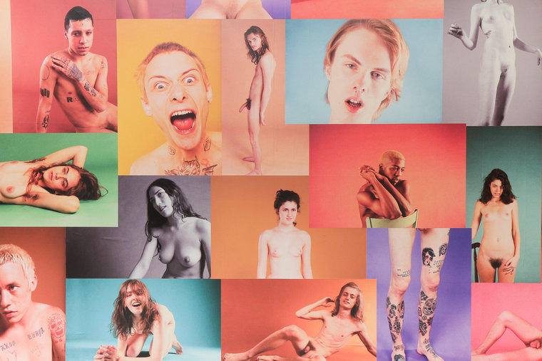 Ryan McGinley .   Yearbook Instillation , 2013 . Courtesy of Ratio 3