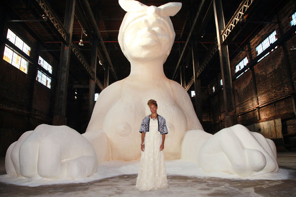 Kara Walker. A Subtlety, or the Marvelous Sugar Baby Installation at Domino Sugar. 2014