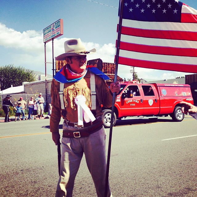 John Wayne impersonator, Lone Pine Film Festival, October 2013.