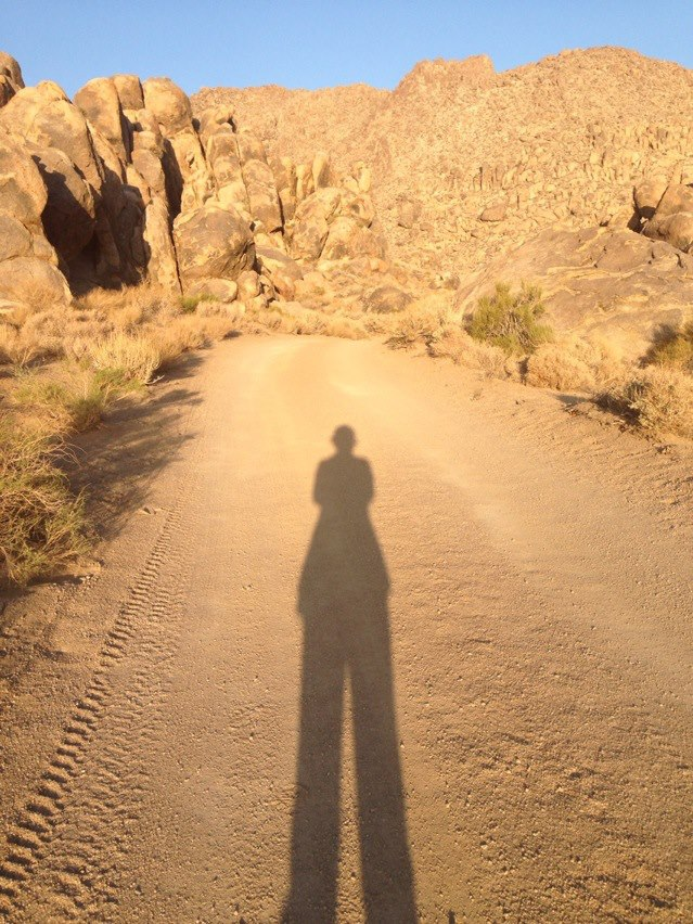 Self-portrait. Alabama Hills.