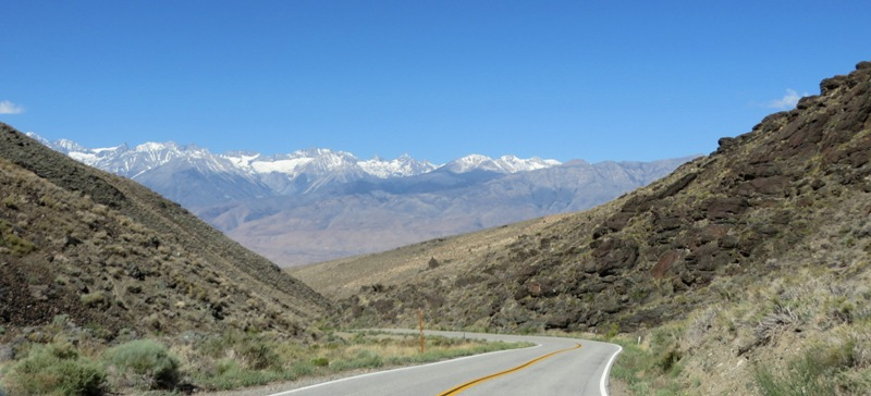 Sierra Crest from Deep Springs Highway