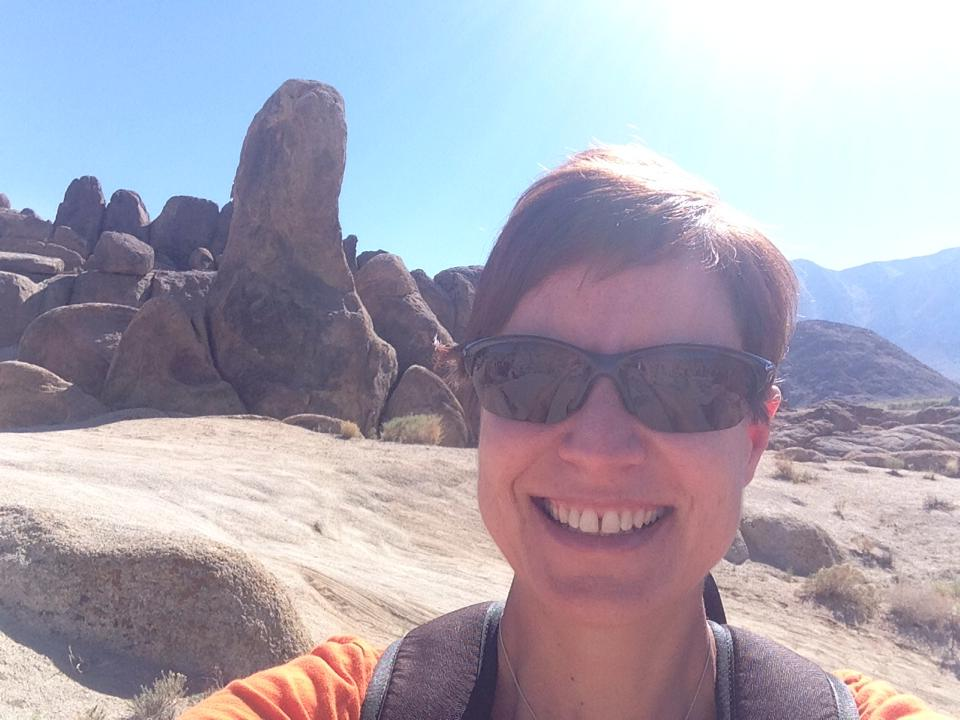 "Kristine by ""Gene Autry"" Rock in the Alabama Hills"