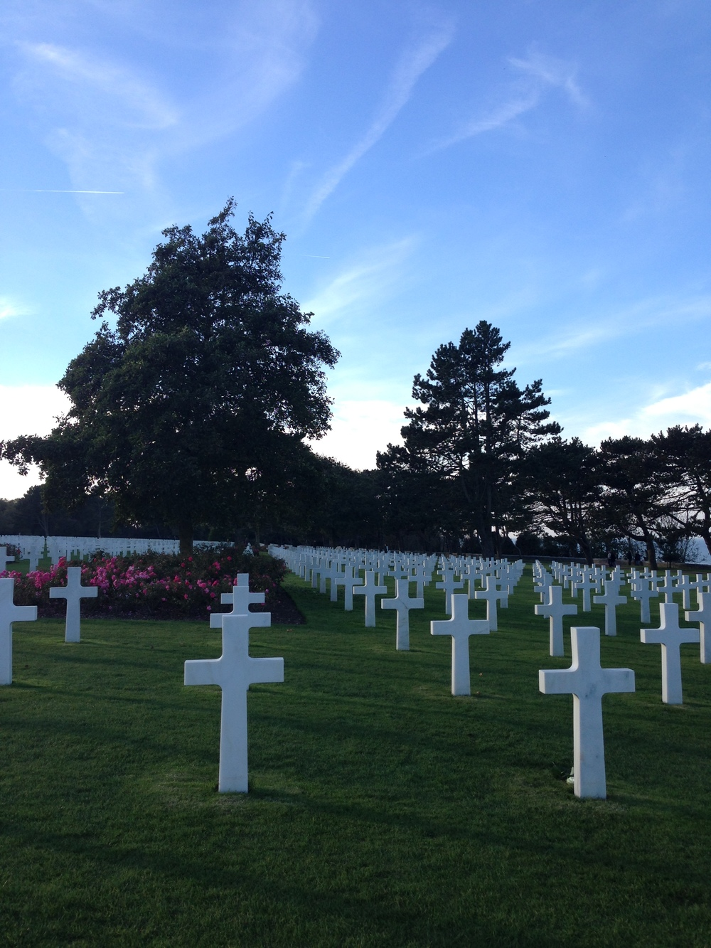 More than 9,000 Americans are buried here. The land, in fact, is a gift from the French government to the United States. Thus, when you walk here, you are on American land.