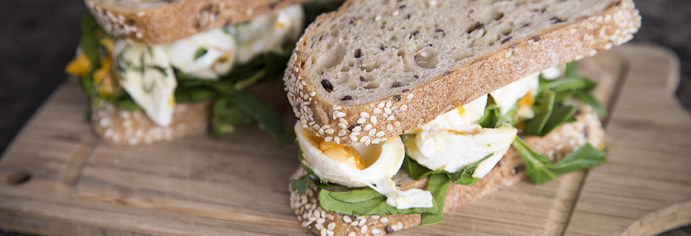 egg and lettuce sandwiches on baker d chirico bread