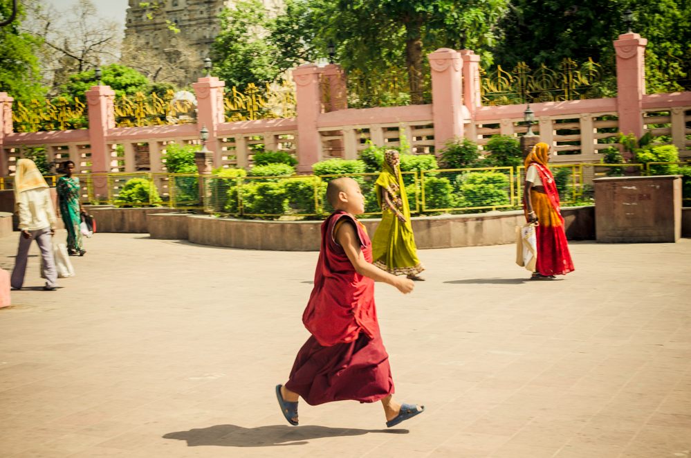Many Tibetan refugees pilgrimage through the holiest sites in Siddhartha's life on their way to Dharamshala.