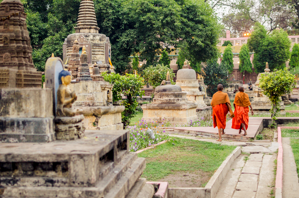 The Mahabodhi Temple in Bodh Gaya, a UNESCO World Heritage Site, is visited by Pilgrims from all over Nepal, China and South East Asia.