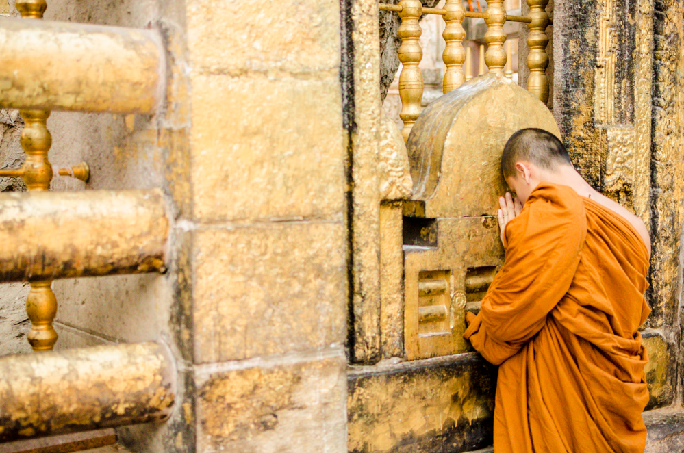 Pilgrims meditate over seven sacred sites practicing each of the meditation method that lead the Buddha to his enlightenment.