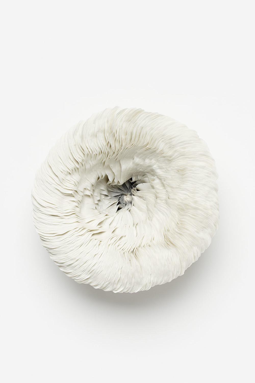 Vibration Series,  2011, artist blend glaze material, 15cm x 38cm x 38cm