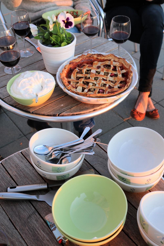 Final evening's dessert