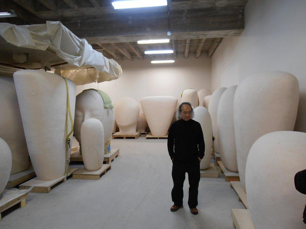 Visit to Jun Kaneko's studios, Omaha Nebraska