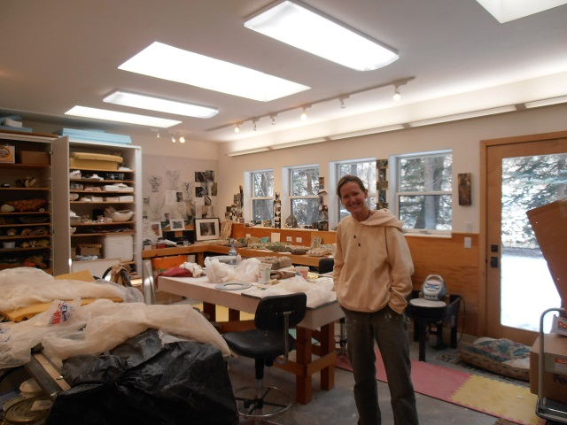 Visit to local artist studio, Sara Ransford
