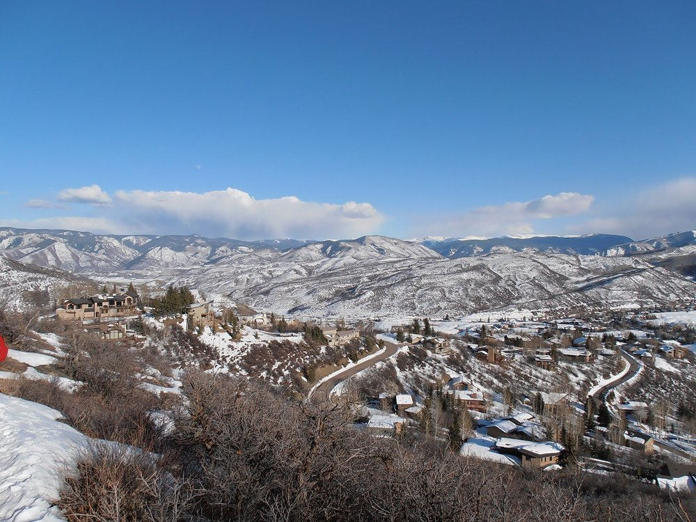 Snowmass Village and Anderson Ranch Arts Center from above