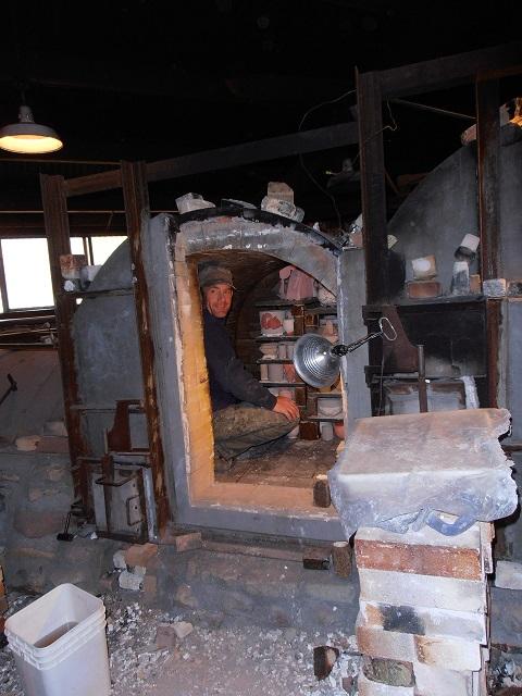 Loading a wood firing