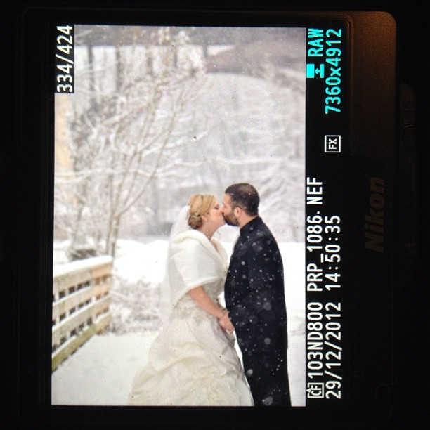 I'm loving this snowy wedding! (at Phoenixville Foundry)