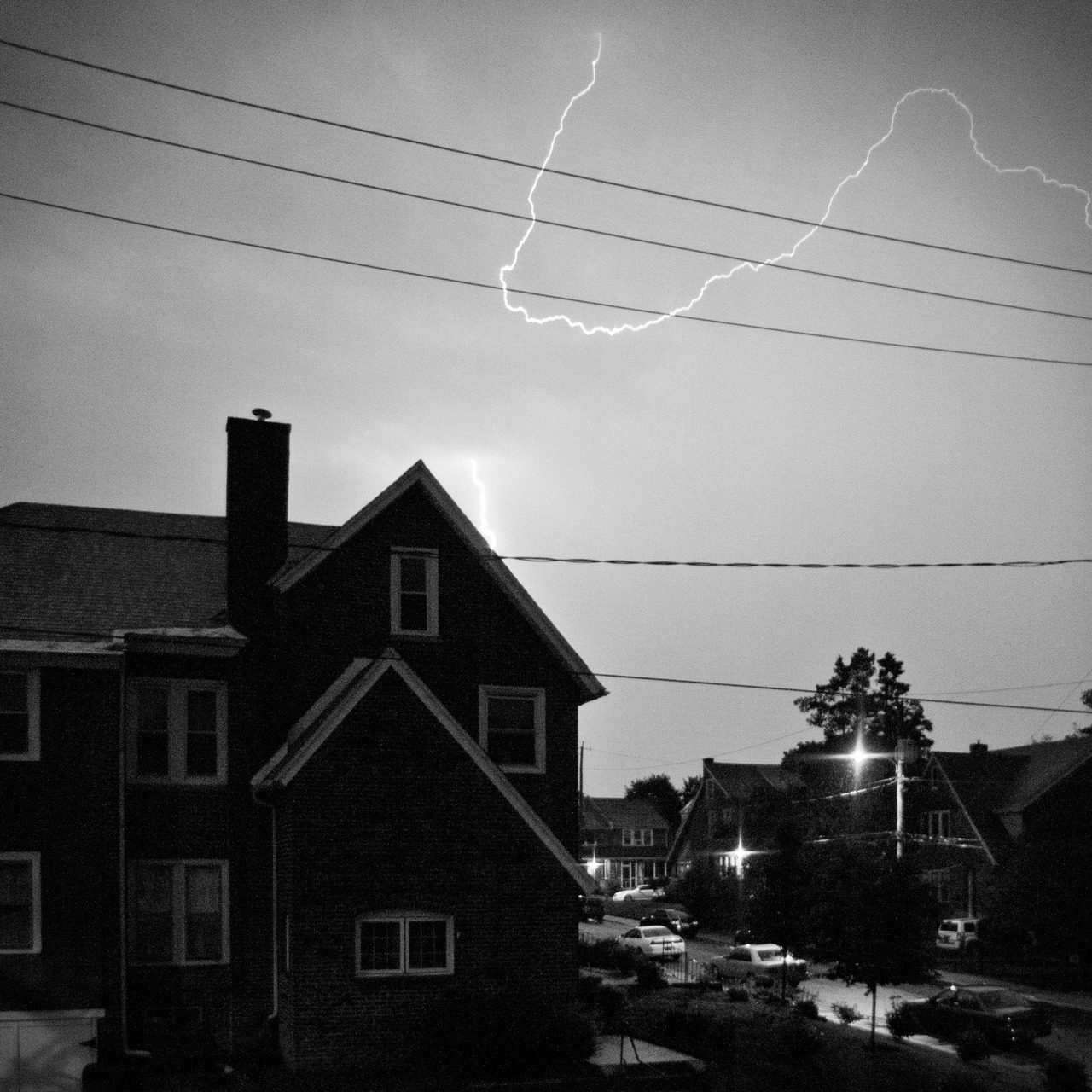 I you live in the DE/Philly area, I am guessing that you heard the thunderstorm last night.  How could you miss it!  I tried my best (at 5 in the morning) to get a shot of the lightning.