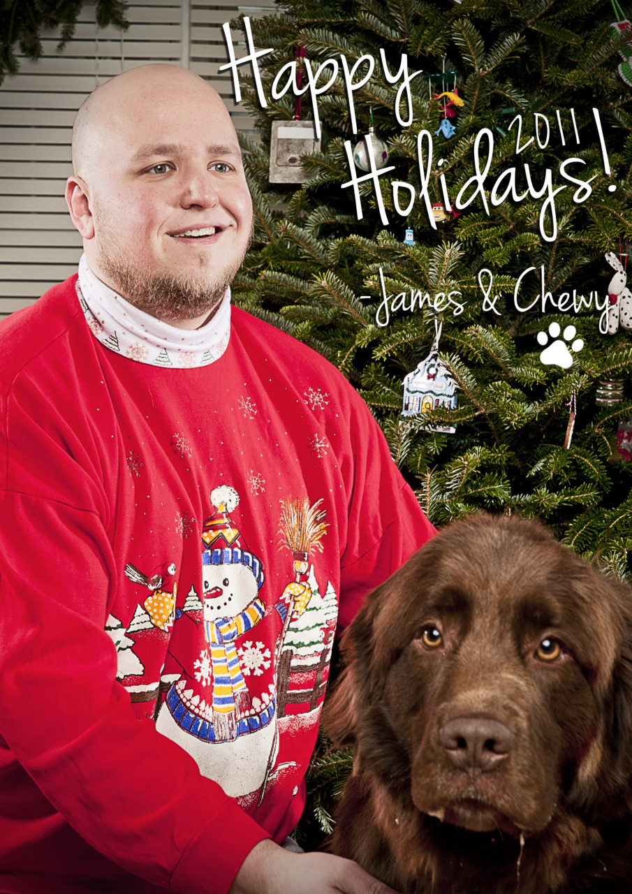 Holiday card season is in full swing!  Here is on that I thought was fun!  The one with my pups is still to come!