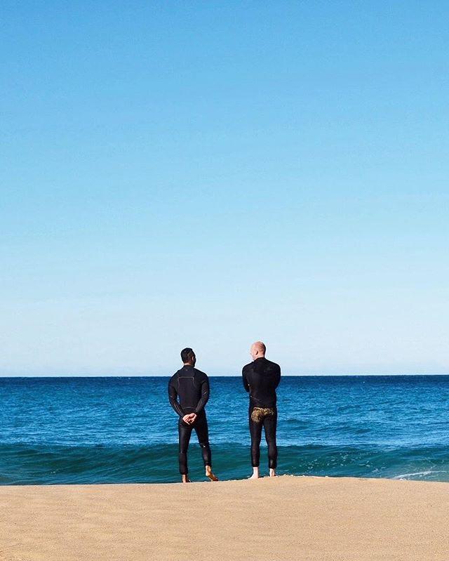 That surfer bond 💙🌊 // #GarieBeach