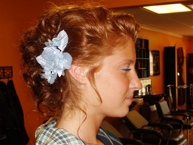 8-20-10 bridesmaid updo with floral piece.jpg