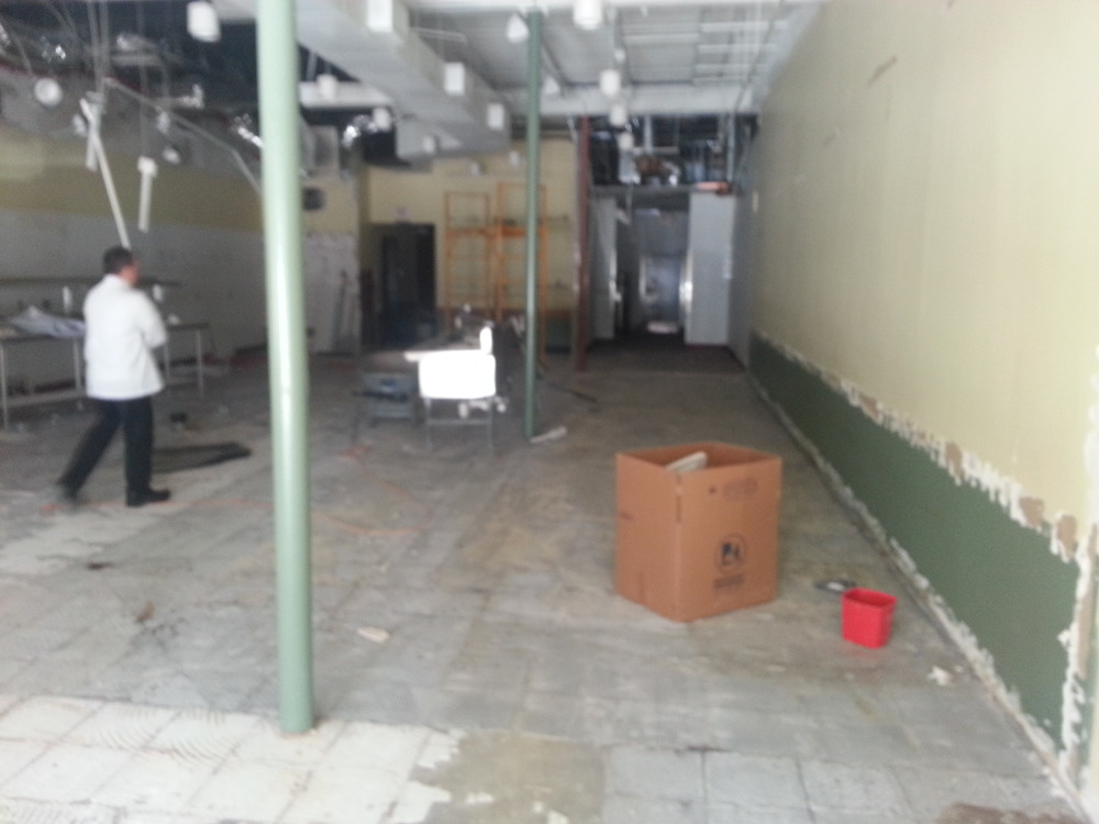 The floors have been demo'd, and now are waiting on being leveled.