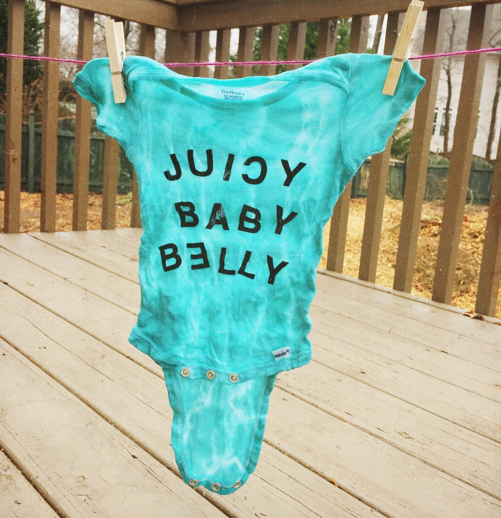 One of the onesies made for Dean at his baby shower this past weekend. Will share more photos of that this week!