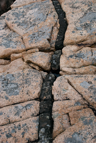 Pink Granite with Basalt Line