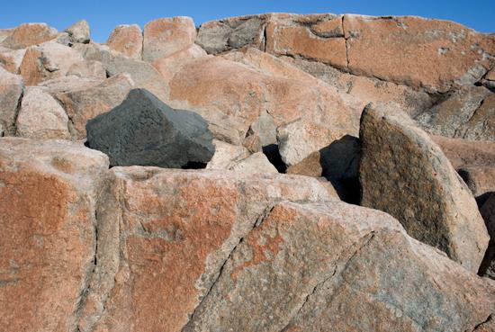 Pink Granite Rocks