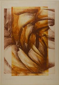 Succulent, etching