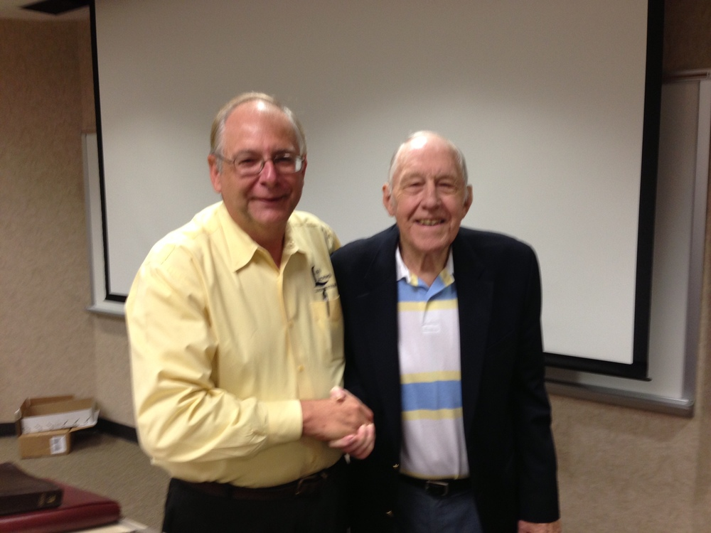 Charlie Hodge,    pictured with L2L Executive Director Roy Johnson