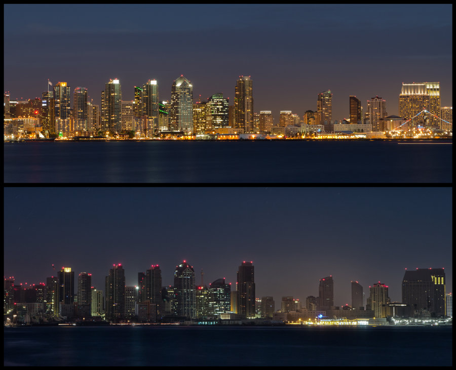 The 2011 black out changed the city skyline. All power from SDG&E was lost, power was coming from back-up generators or secondary sources.