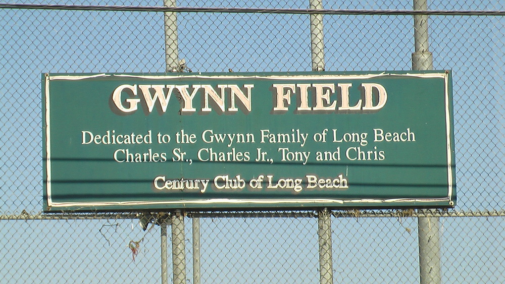 Gwynn Field is the baseball field at Long Beach Poly.  Tony Gwynn, Poly class of 1977 was more highly recruited for basketball than baseball.