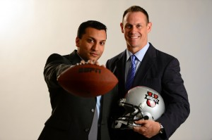ESPN analyst Rene Ingoglia and play-by-play commentator Adam Amin will be the lead team