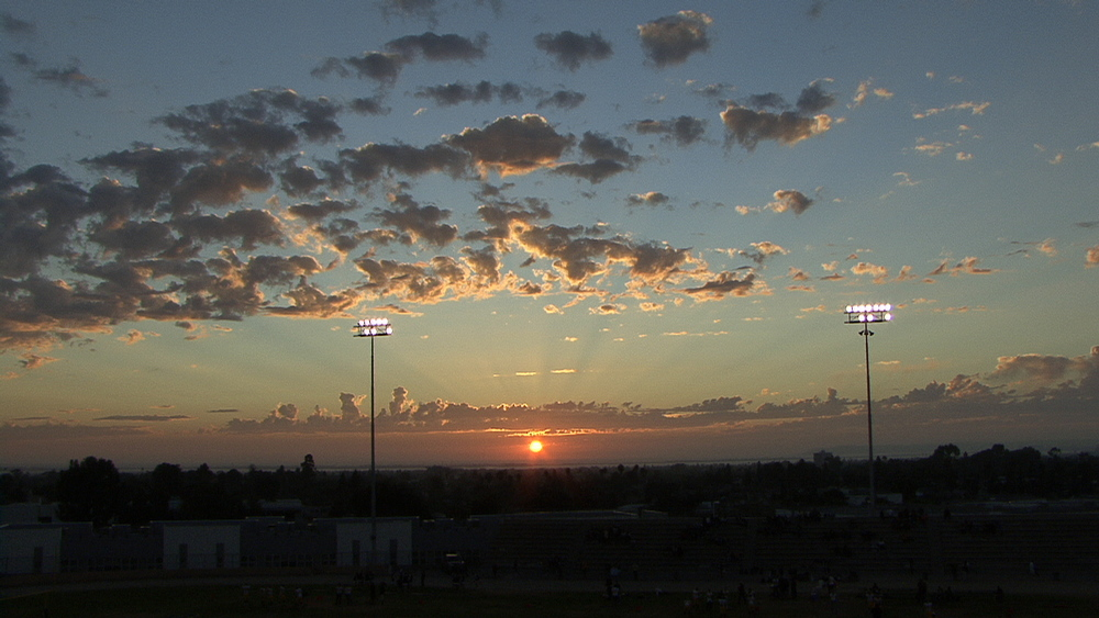 Sunset at Hilltop football game
