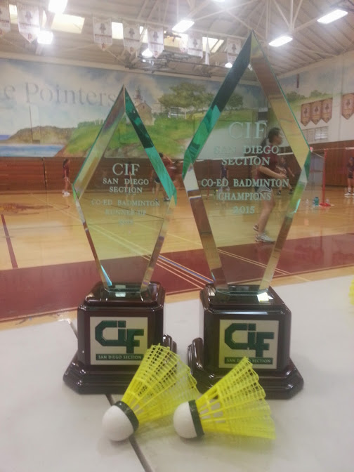Badminton trophies at Point Loma