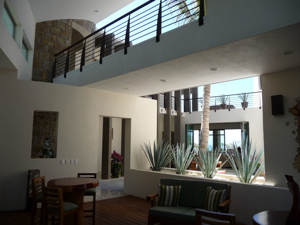 The interior courtyard opens to capture the cooling breezes off the Sea of Cortez and provides a comfortable respite from the harsh desert climate.
