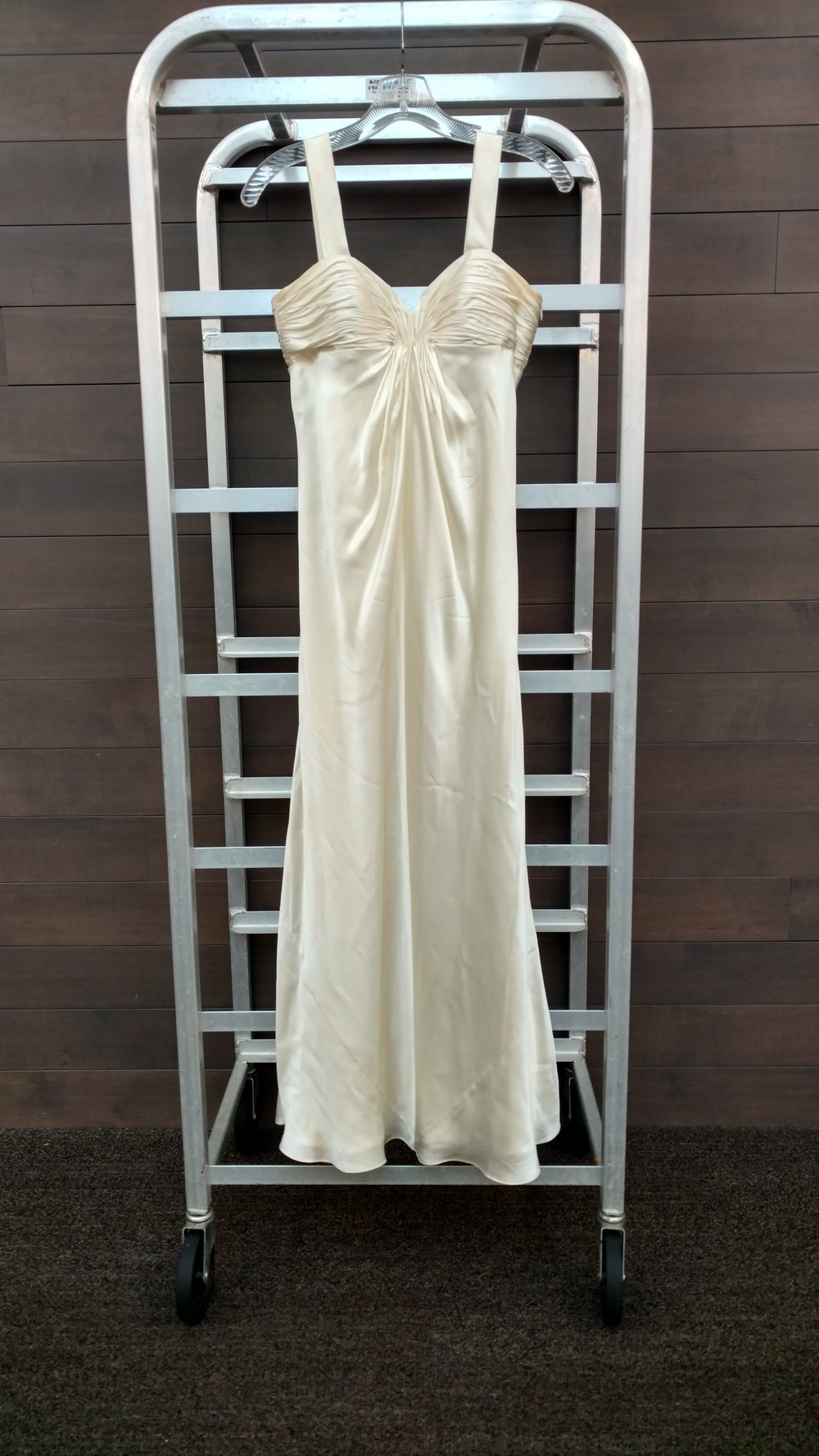 Dress 2 - Laundry by Shelli Segal - Ivory, Size 2 Waist 28 inches, L ength 43 inches