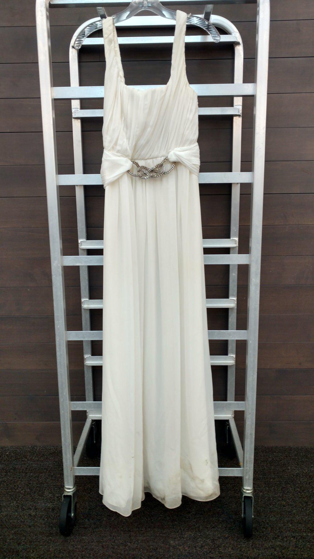 Dress 6 -Jill Stuart, Size, 6 White, Waist 26 inches, length, 53 inches,