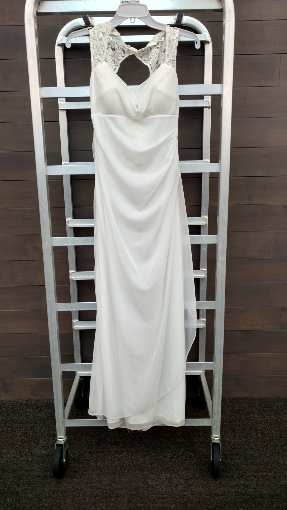 Dress 4 - Xcape - White, Size 10, Waist 26 inches, Length, 49 inches from front of dress neckline
