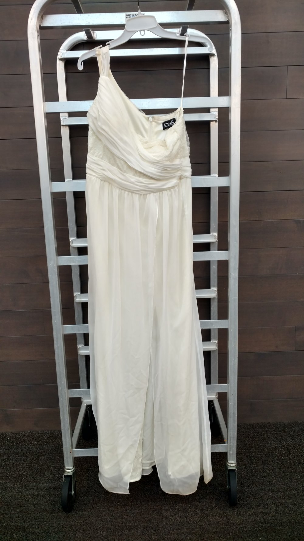 Dress 5 - Hailey by Adrianna Papell - Ivory, Size 12, Waist 30 inches, Length from neckline 48 inches