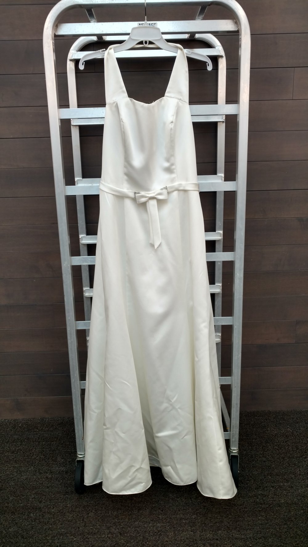Dress 1 - Alfred Angelo - White, Size unkown, 32 inches at belt line, 55 inches from neckline to hem