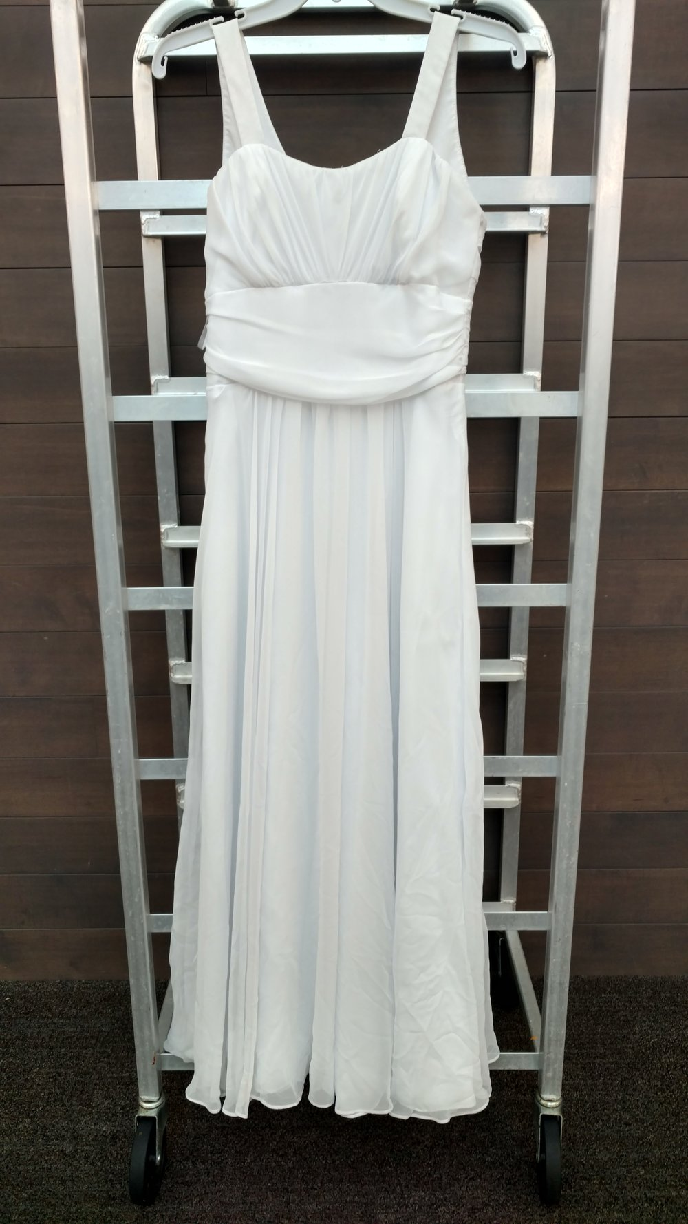 Dress 3 - Jim Hjelm, Occaisions - White, Size 14, Waist 28 inches, Length 49 inches