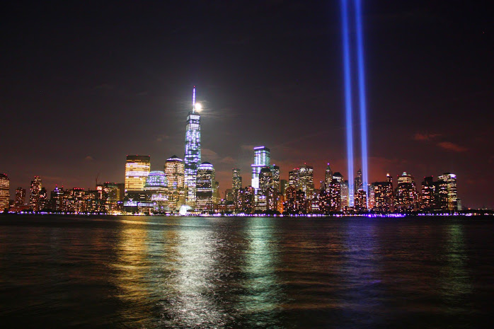 Tribute Lights as Seen From Liberty State Park, NJ.
