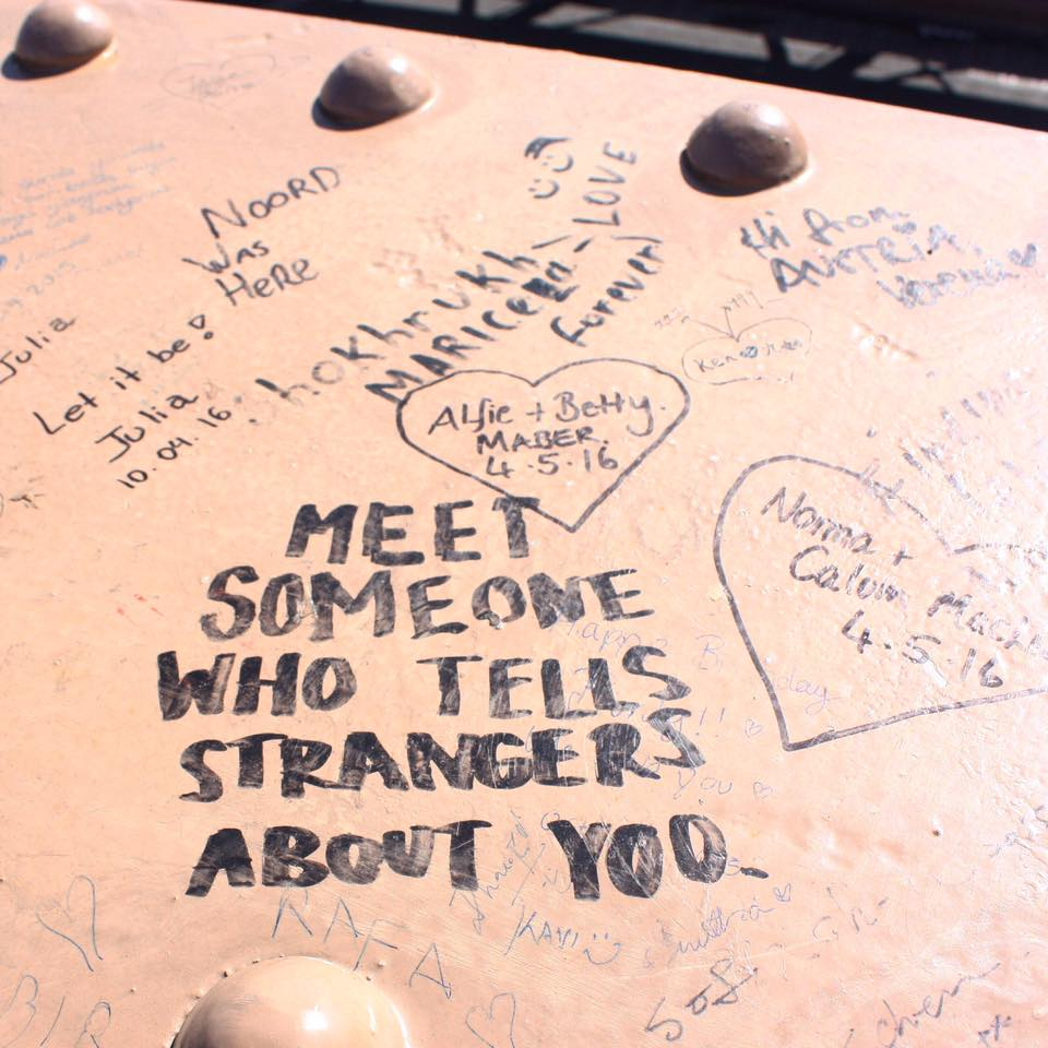 Graffiti on the Brooklyn Bridge