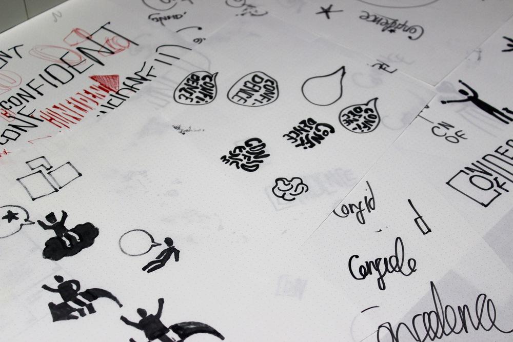 Above rough sketches for logo ideas