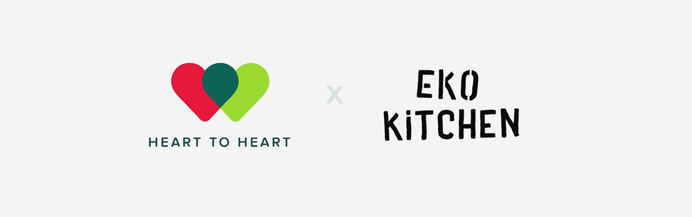 The Heart to Heart and Eko Kitchen logos together.